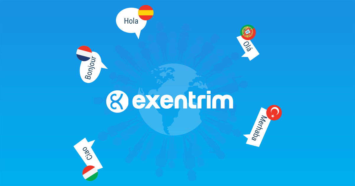Exentrim now supports 5 more languages
